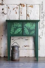 Nábytok - Skrinka s lesným papradím - 8663439_