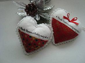 Dekorácie - Vianočné srdiečko ako darček - 8660599_
