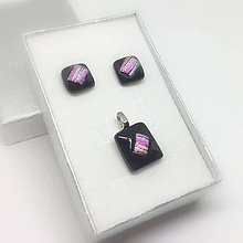 Sady šperkov - dichroic sada PINK 012 - 8663803_