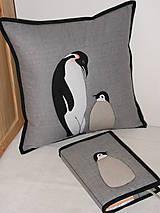 Úžitkový textil - Tučniaky - 8664251_