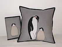 Úžitkový textil - Tučniaky - 8664255_