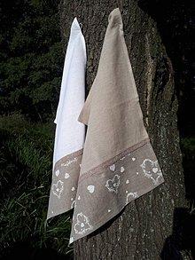 Úžitkový textil - Ľanová kuchynská utierka Pure Nature - 8663817_