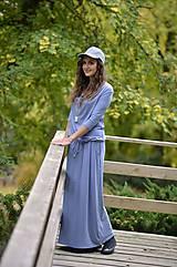 Šaty BOHO - svetlo sivé