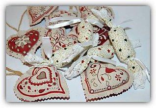 Dekorácie - Vianočné ozdôbky- Bordová kolekcia - natural - 8665051_