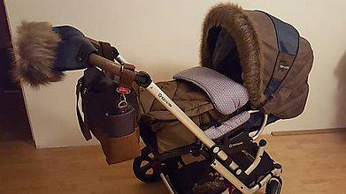 Detské súpravy - Kožušinový set na Gesslein či iný kočík - 8665007_