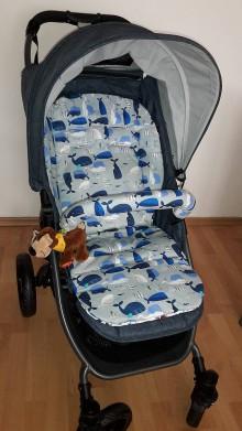 Detské súpravy - Podložka a obal na madlo na akýkoľvek kočík - 8666207_