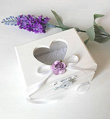 Prstene - Krabička na svadobné prstienky - 8664763_