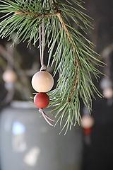 Dekorácie - Vianočná guľa dvojdielna (natural) - 8668041_