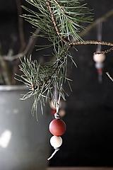 Dekorácie - Vianočná guľa dvojdielna (červenohnedá) - 8668206_