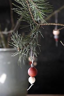 Dekorácie - Vianočná guľa dvojdielna (červenohnedá) ZIMA 2017 - 8668206_