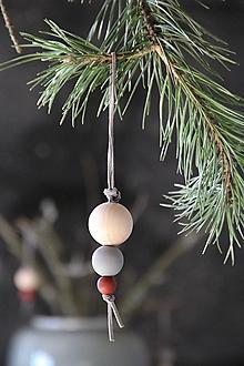 Dekorácie - Vianočná guľa trojdielna ZIMA 2017 - 8668266_