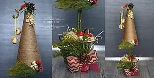 Dekorácie - Vianočný stromček mini - 8666203_