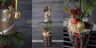 Dekorácie - Vianočný stromček mini 2 - 8666348_
