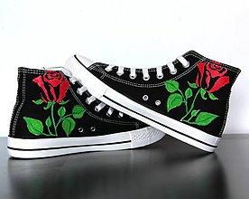 Obuv - tenisky s ružami - 8665617_