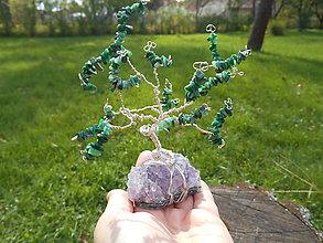 Dekorácie - tree for happy with ametyst - 8665681_