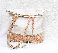 Nákupné tašky - Korková taška Simple - 8665536_