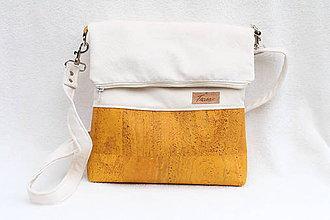 Kabelky - Korková taška Simple yellow - 8665686_