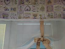 Úžitkový textil - záclonka levanduľková - 8667976_