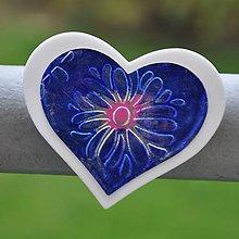 Magnetky - Magnetka Modravé srdce - 8666851_