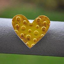 Magnetky - Magnetka Srdce žlté - 8666878_