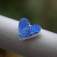 Magnetky - Magnetka Srdce modré víry - 8666887_