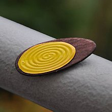 Magnetky - Magnetka Ovál žltý - 8666898_