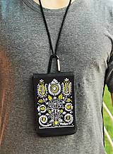 Na mobil - Univerzálne púzdro na mobil kvety ľudový motív 2 - 8667019_
