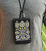 Na mobil - Univerzálne púzdro na mobil kvety ľudový motív 2 - 8668808_