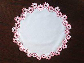 Úžitkový textil - Dečka - ružové kvety - 8665665_