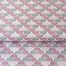 Textil - ružové vejáriky, 100 % bavlna Dánsko, šírka 140 cm, cena za 0,5 m - 8664795_