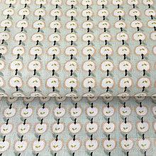 Textil - jabĺčka, 100 % bavlna Francúzsko, šírka 160 cm, cena za 0,5 m - 8665222_