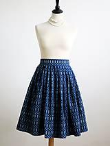 Sukne - sukňa a motýlik z modrotlače - ON a ONA Modrotlačoví III. - 8666767_