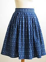 Sukne - sukňa a motýlik z modrotlače - ON a ONA Modrotlačoví III. - 8666768_