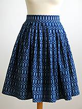 Sukne - sukňa a motýlik z modrotlače - ON a ONA Modrotlačoví III. - 8666769_