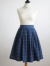 Sukne - sukňa a motýlik z modrotlače - ON a ONA Modrotlačoví III. - 8666770_