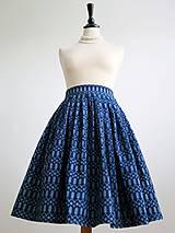 Sukne - sukňa a motýlik z modrotlače - ON a ONA Modrotlačoví III. - 8666771_