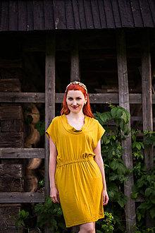 Šaty - Horčicové šaty - 8664549_