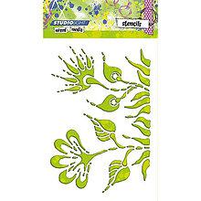 Pomôcky/Nástroje - StudioLight - Šablóna s rastlinným vzorom (A5) - 8666303_