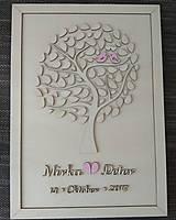 """Dekorácie - Svadobný strom """"Birds of love"""" - kniha hostí - lístočky - 8668755_"""