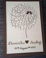 """Dekorácie - Svadobný strom """"Birds of love"""" - kniha hostí - lístočky - 8668756_"""