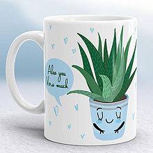 Nádoby - Aloe vera šálka - 8664357_