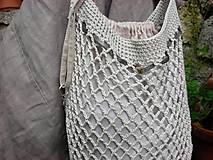 Nákupné tašky - Retro sieťovka (s vnútorným vreckom) - 8666381_