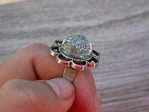 Prstene - Kovový kvet (Strieborný kvet - prsteň č.1372 - Akcia) - 8665255_