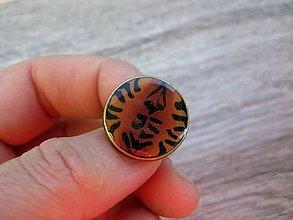 Prstene - Prsteň väčší guľatý (Tigrovaný prsteň č.1373 - Akcia) - 8665311_