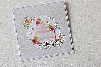 Papiernictvo - Pohľadnica s tortou - 8668138_