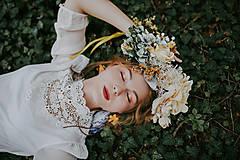 """Ozdoby do vlasov - Kvetinový boho venček """"babie leto"""" - 8665825_"""