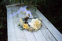 """Ozdoby do vlasov - Kvetinový boho venček """"babie leto"""" - 8665918_"""