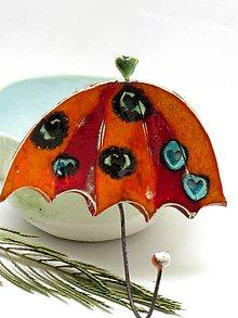 Nábytok - vešiak dáždnik oranžový - 8665171_