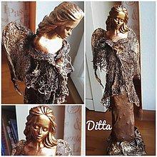 Socha - Anjelik v svetríku - 8667150_