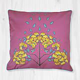 Úžitkový textil - Vankúš - červienka a zlatý dážď - 8666329_